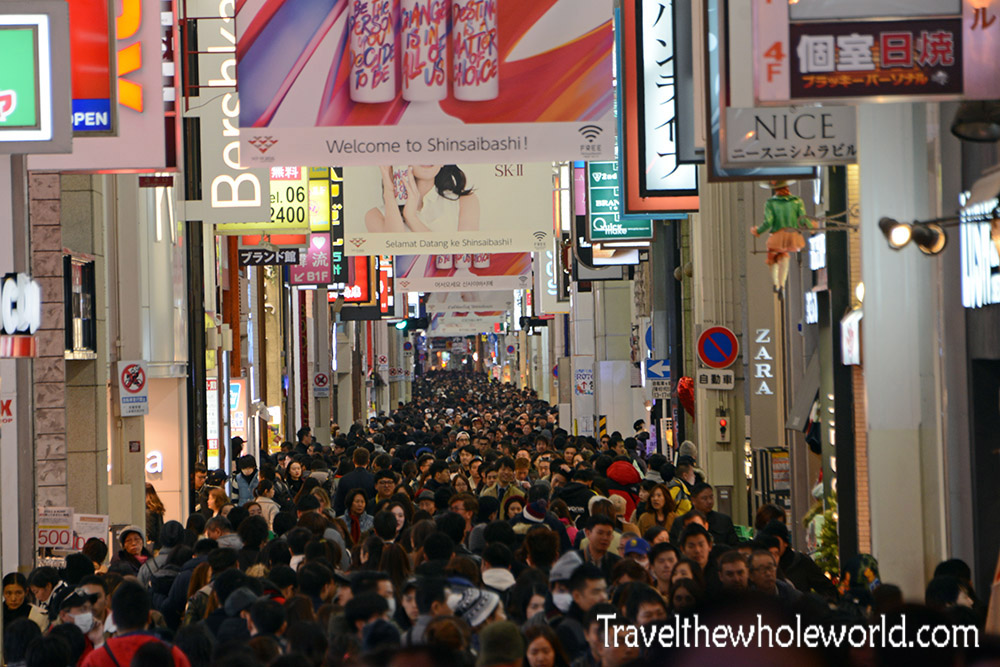 Osaka Dotonbori Crowded Too May People