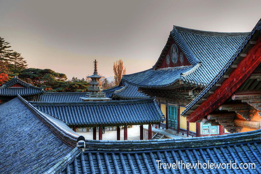 South Korea Gyeongju Bulguska Roofs