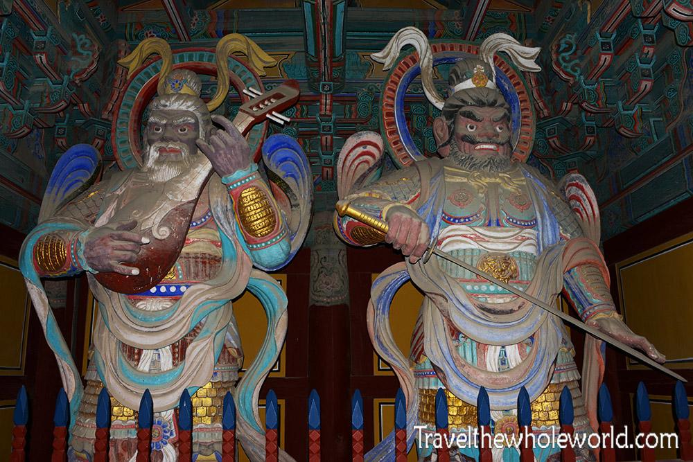 South Korea Gyeongju Buddhist Temple Soldiers