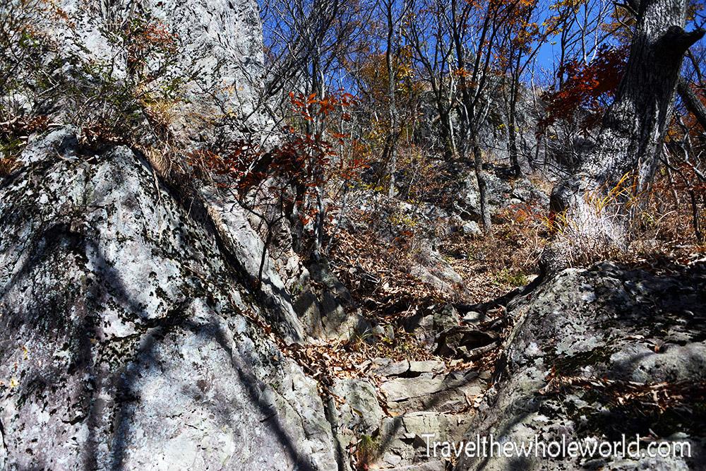 Naejangsan Hiking Rocky Trail
