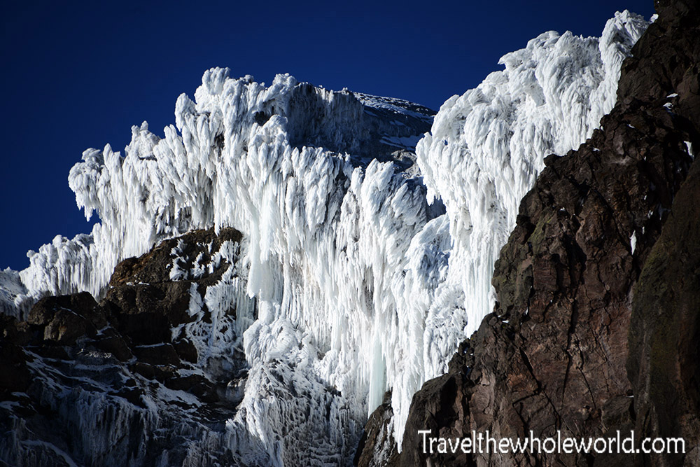Ecuador Illiniza Sur Rime Ice Formation