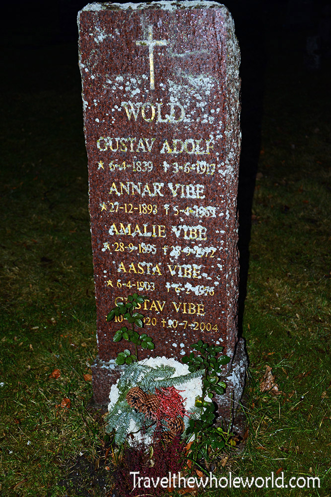 Norway Trondheim Nidaros Cathedral Cemetery Grave