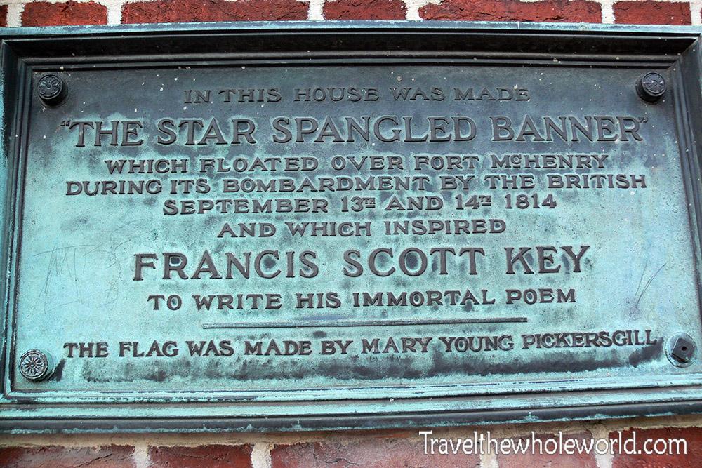 Maryland Baltimore Francis Scott Key Marker