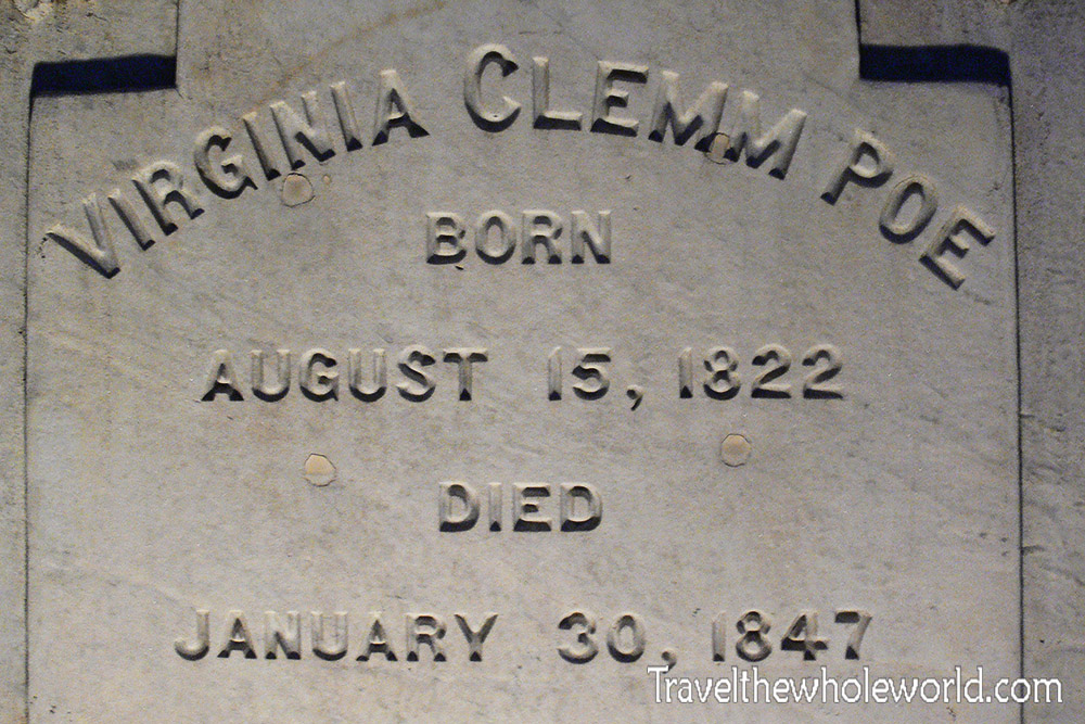 Maryland Baltimore Edgar Allen Poe's Wife Virginia