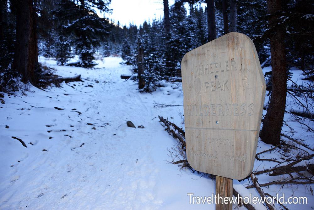 New Mexico Wheeler Peak Sign