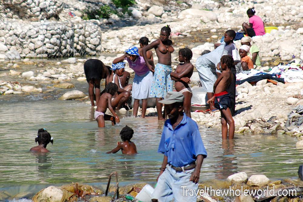 Jacmel Haiti River Bathing