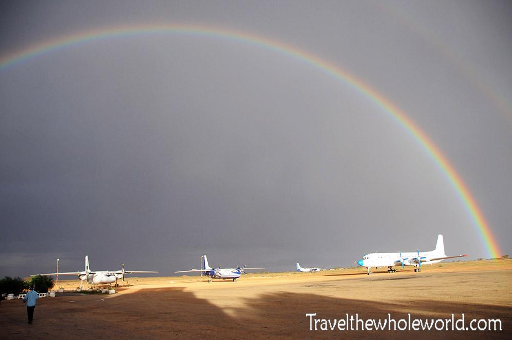 Hargeisa Somalia Airport Rainbow
