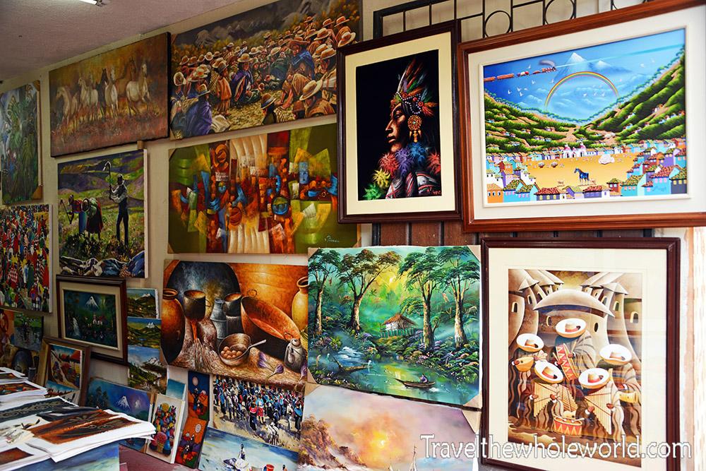 Otavalo Ecuador Art Store