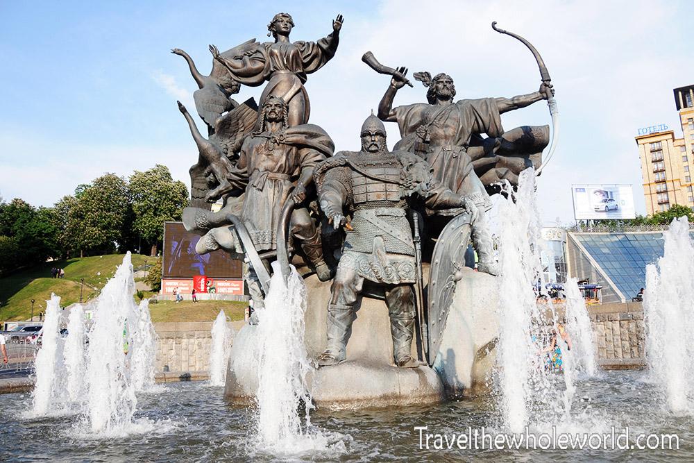 Ukraine Kiev Independence Square Kyi, Shchek, Khoryv, Lybid