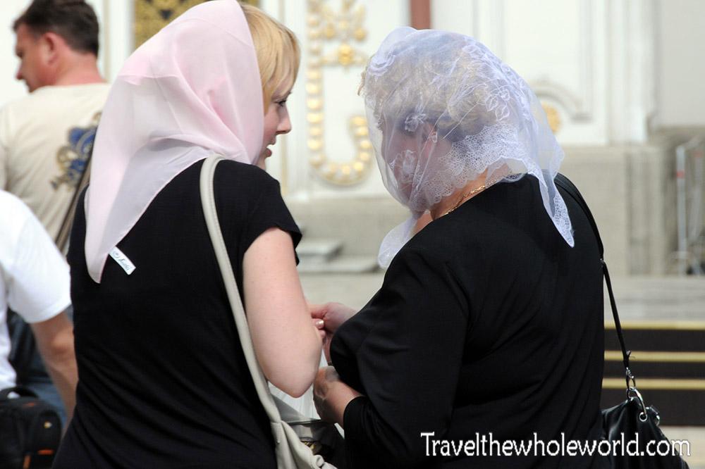 Ukraine Kiev Monastery Cave Women