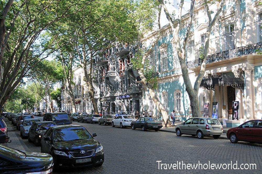 Ukraine Odessa Cobblestone Street
