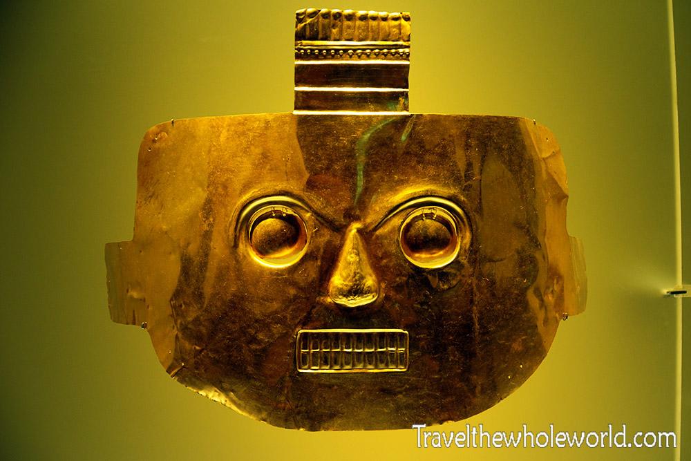 Bogota Museum Museo Oro Golden Mask
