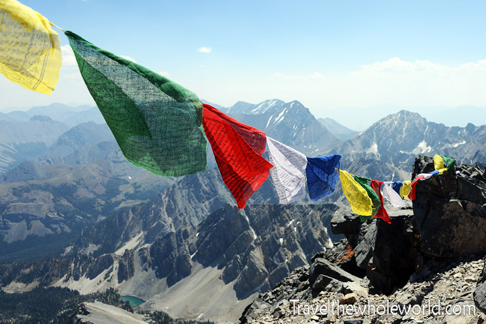 Idaho Prayer Flags Himalayan Borah Peak