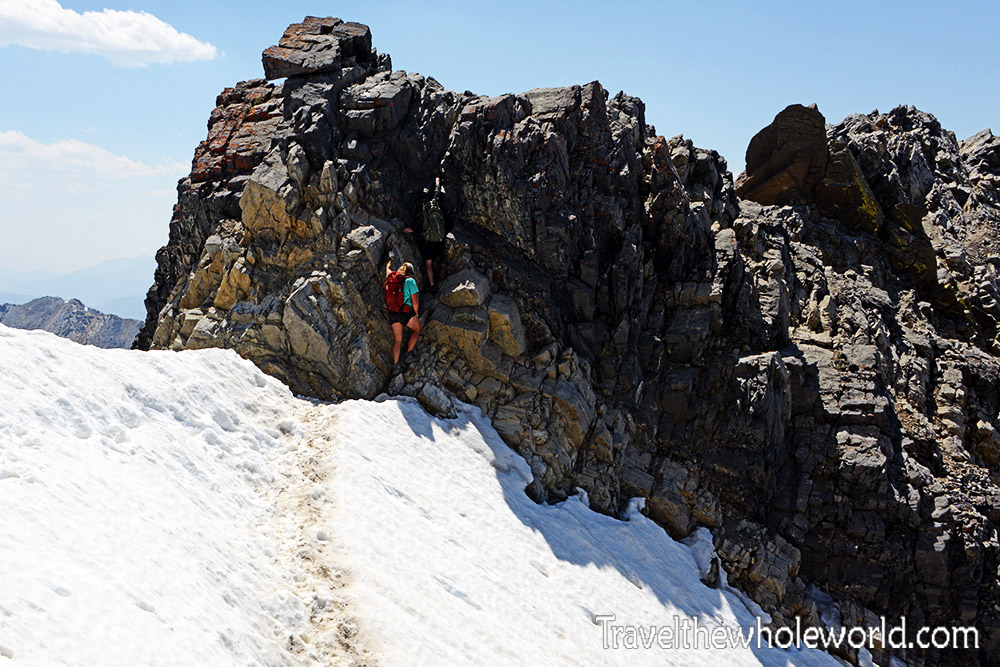 Climber Borah Peak Scramble