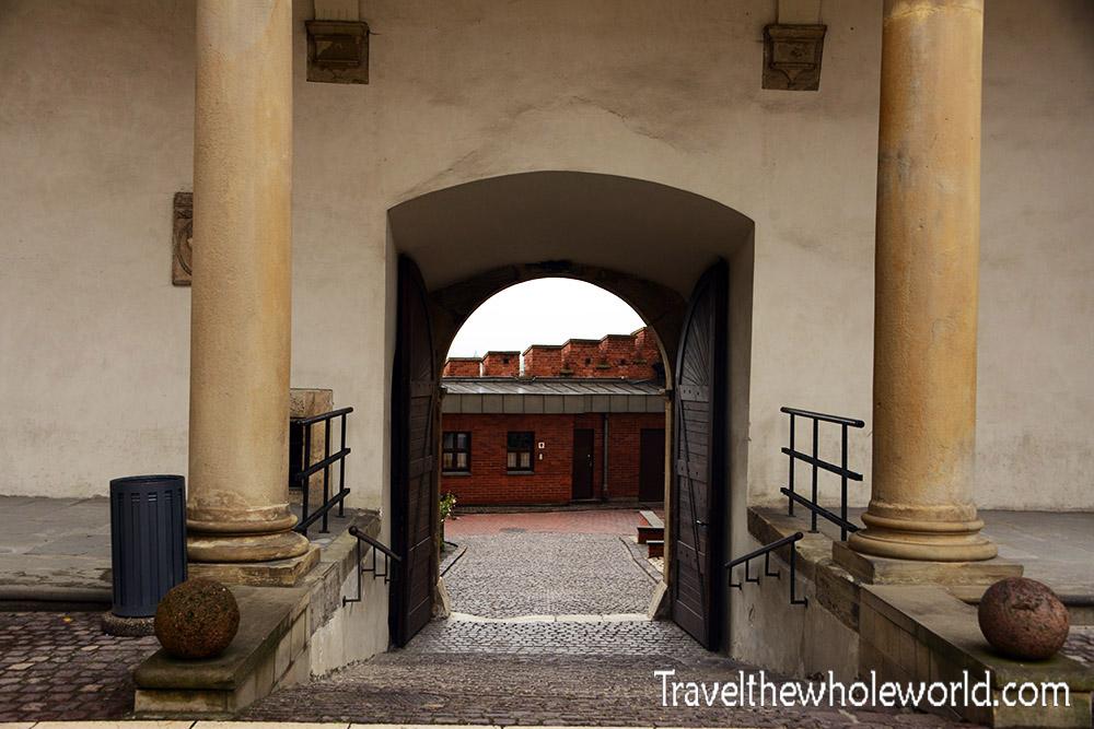 Poland Krakow Wawel Square Entrance