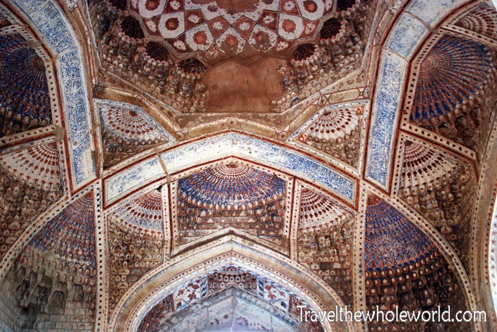 Afghanistan Herat Ceiling of Goharshad Tomb