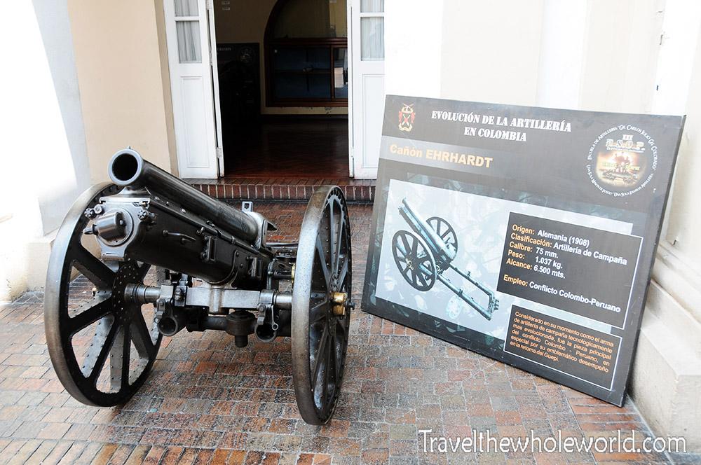 Colombia Bogota Museum Cannon Panama War 1,000 Year War