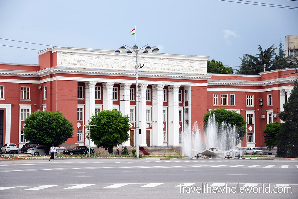 Tajikistan Dushanbe Red Building Parliament