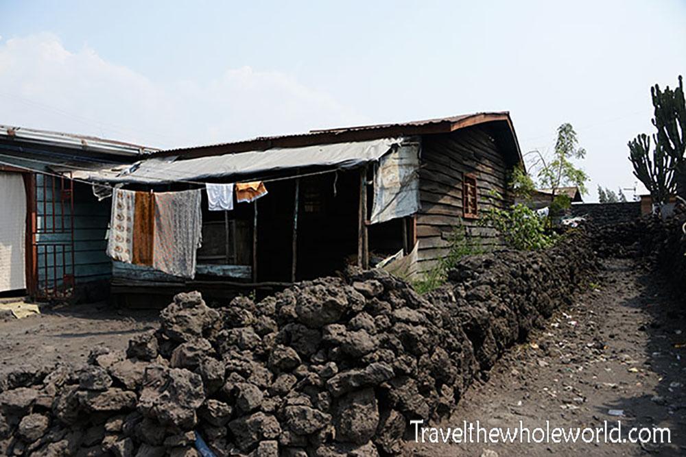 Congo Goma Lava Wall