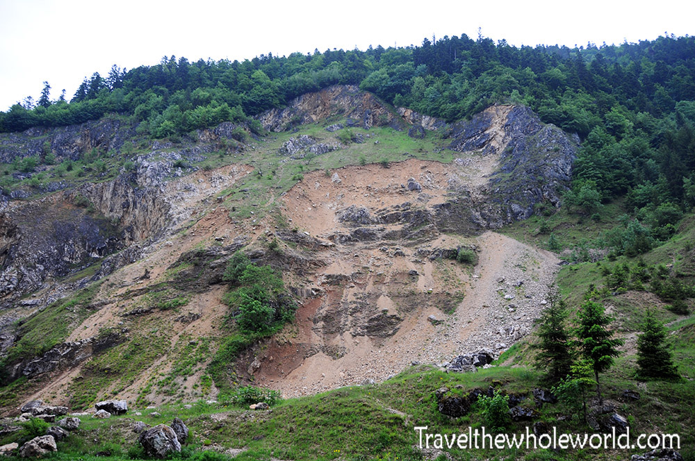 Piatra Craiului Landslide title=