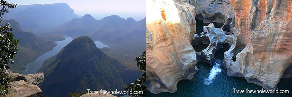 South Africa Blyde Pot Holes