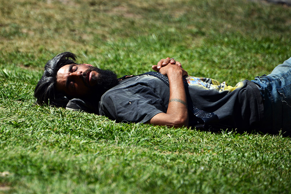 Buenos Aires Argentina Man Sleeping