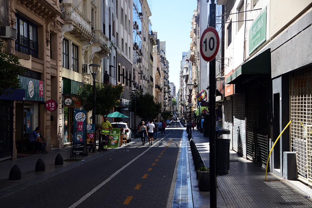 Argentina Buenos Aires Small City Street