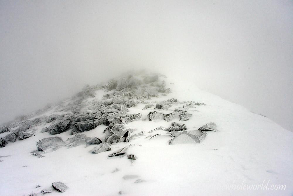 Arizona Mt Humpreys Peak Summit Approach Winter