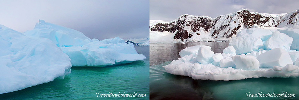 Antarctica Beautiful Icebergs Colorful