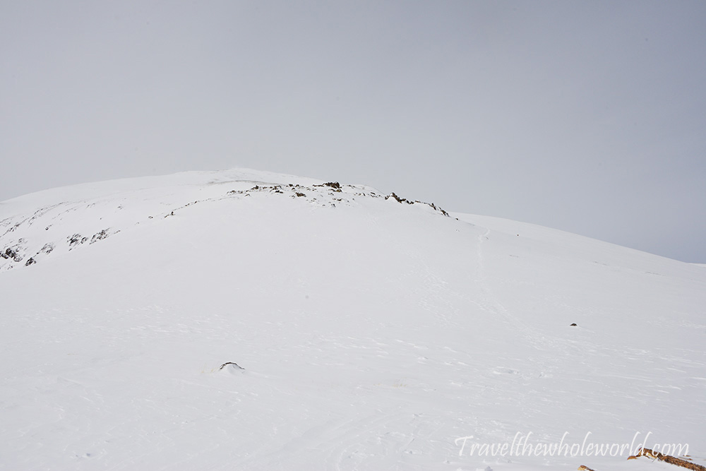 Mt. Elbert Winter Climb Fog