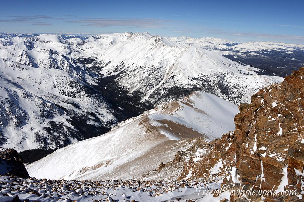Mt. Elbert Winter Climb View