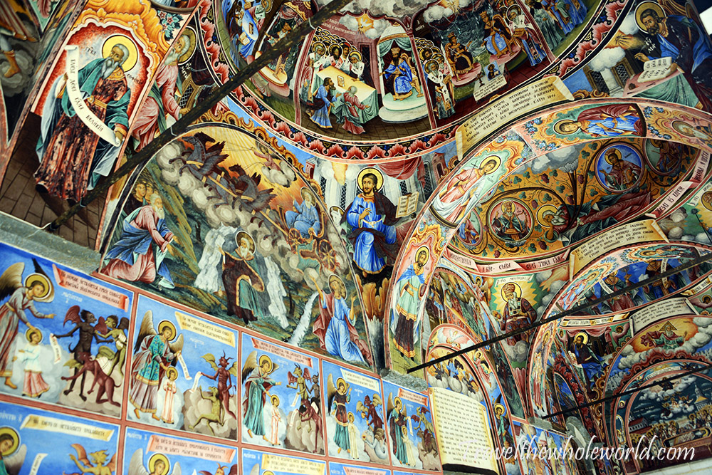 Bulgaria Rila Monastery Fresco Paintings