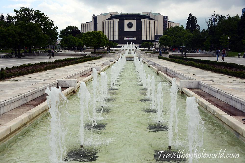 Sofia Bulgaria City Park Fountains