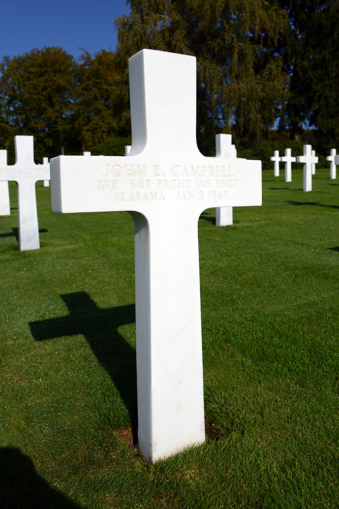 Luxembourg American Cemetery John Campbell Jan 9th 1945