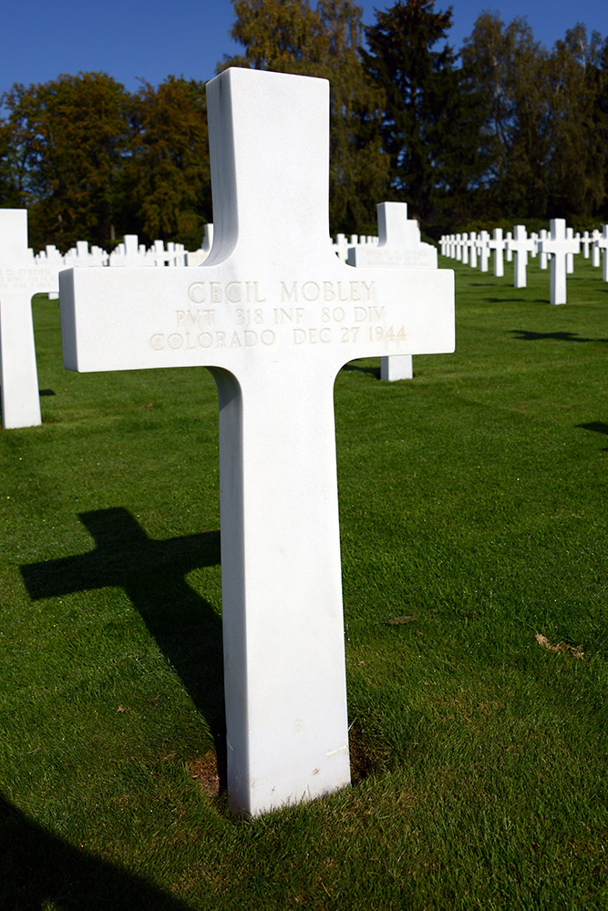 Luxembourg American Cemetery Cecil Mobley Dec 27th 1944
