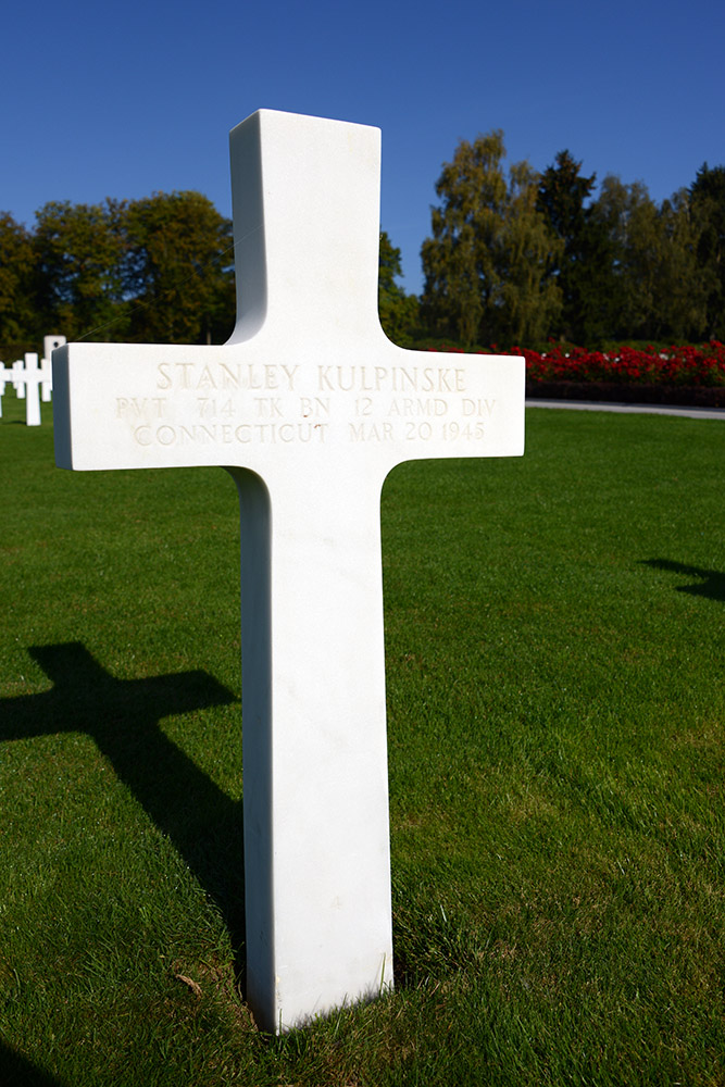 Luxembourg American Cemetery Stanley Kulpinske March 20th 1945