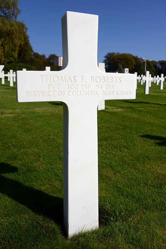 Luxembourg American Cemetery Thomas Roberts March 6th 1945