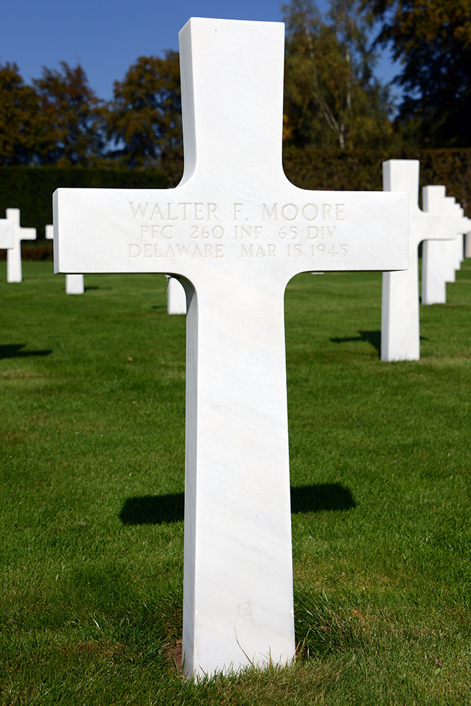 Luxembourg American Cemetery Walter Moore March 15th 1945