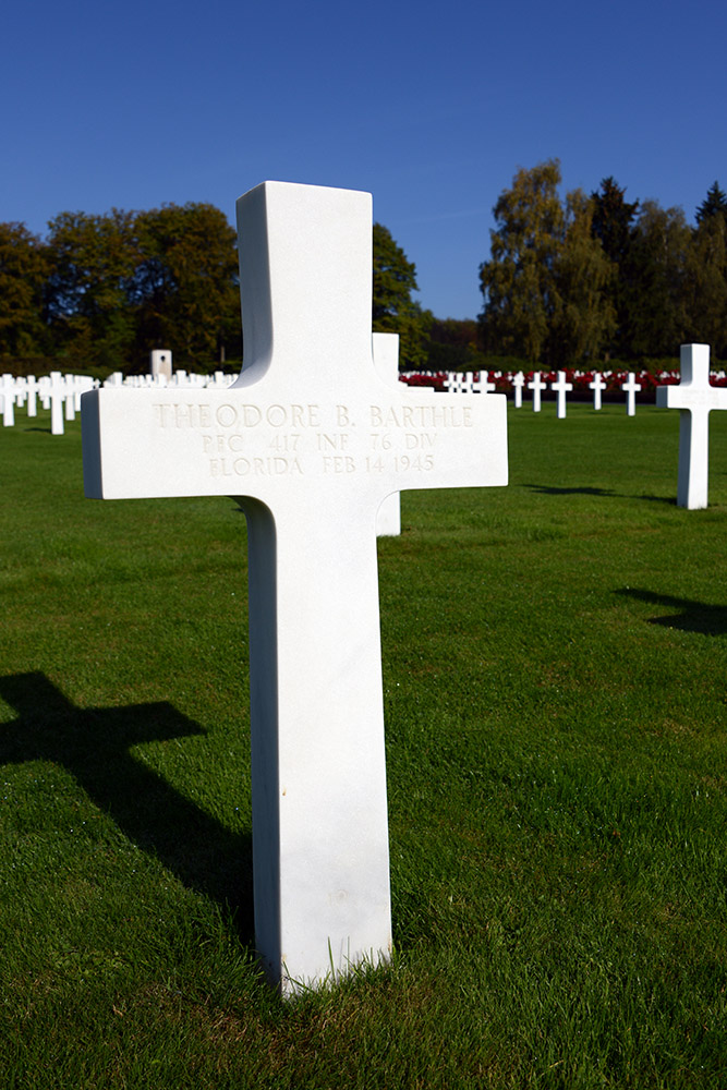 Luxembourg American Cemetery Theodore Barthle February 14th 1945