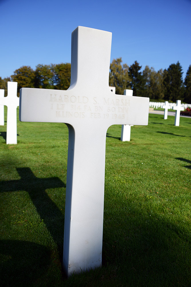Luxembourg American Cemetery Harold Marsh February 19th 1945