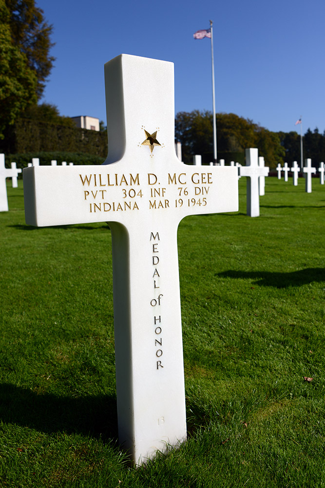 Luxembourg American Cemetery William McGee March 19th 1945