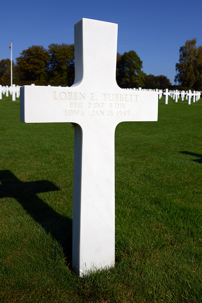 Luxembourg American Cemetery Loren Turbett January 18th 1945