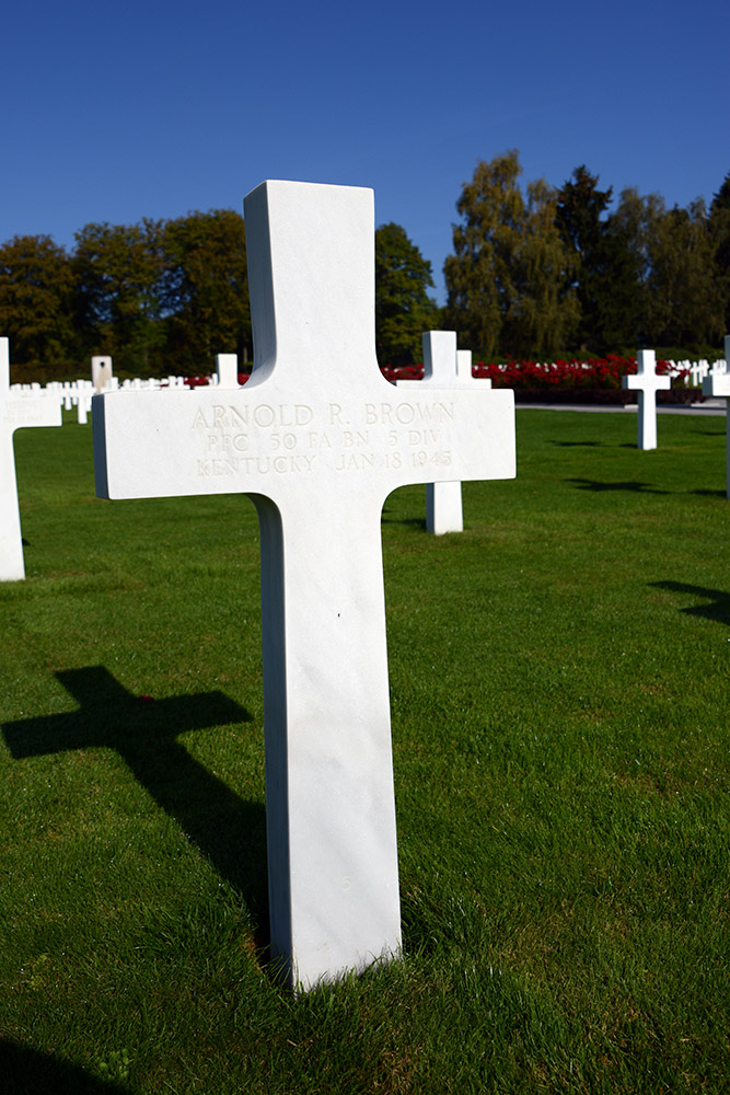 Luxembourg American Cemetery Arnold Brown January 18th 1945