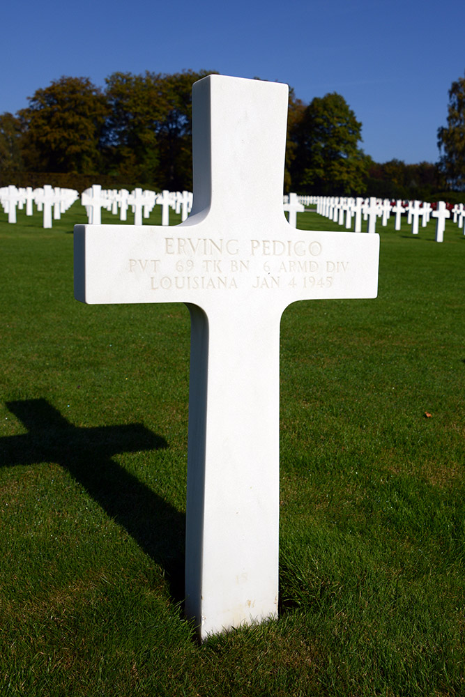 Luxembourg American Cemetery Erving Pedigo January 4th 1945