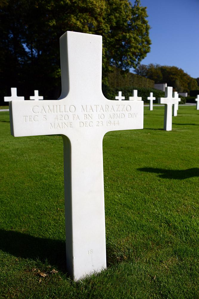 Luxembourg American Cemetery Camillo Matarazzo December 23rd 1944
