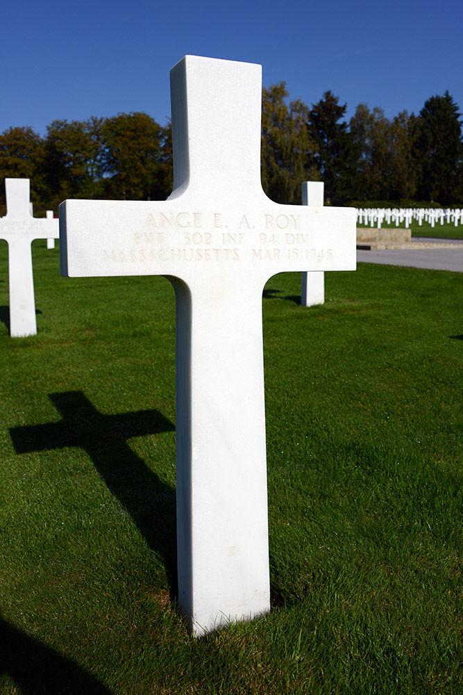 Luxembourg American Cemetery Ange Roy March 15th 1945