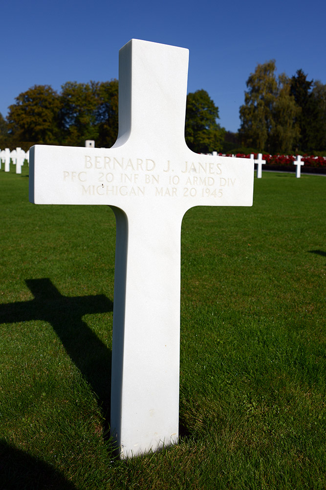 Luxembourg American Cemetery Bernard Janes March 20th 1945