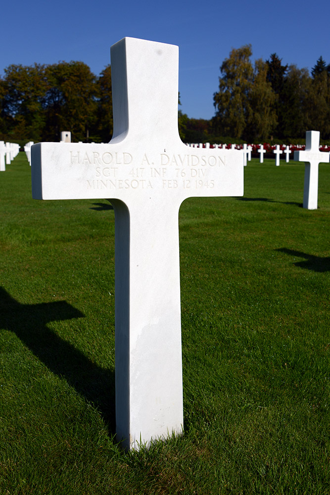 Luxembourg American Cemetery Harold Davidson February 12th 1945