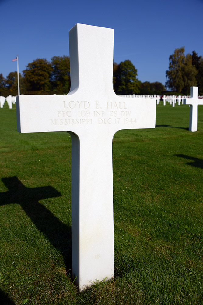 Luxembourg American Cemetery Loyd Hall December 17th 1944