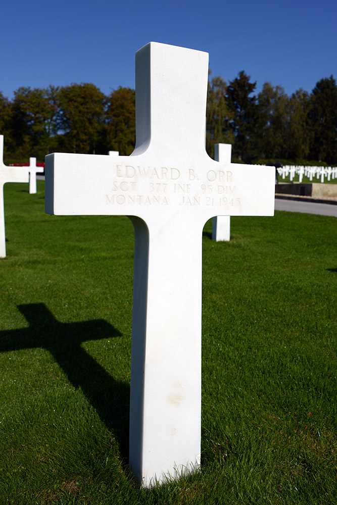 Luxembourg American Cemetery Edward Orr January 21st 1945